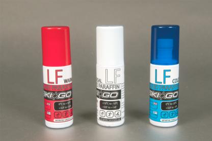 Flytande paraffin, lågfluor, röd vit och blå